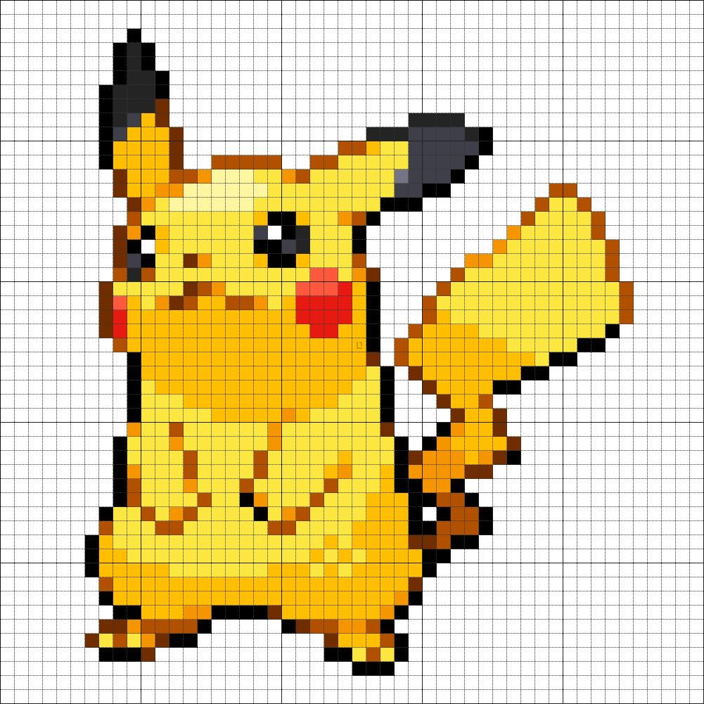 25 Pikachu Pixel Art Pokemon Minecraft Pixel Art Pixel Art