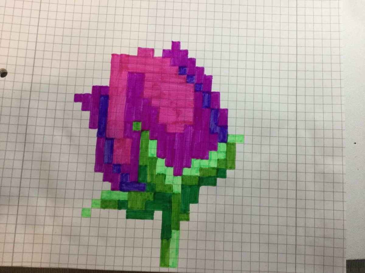 Pixel Art 132 Tulpe In 2020 Pixel Art Zeichnungen Bilder