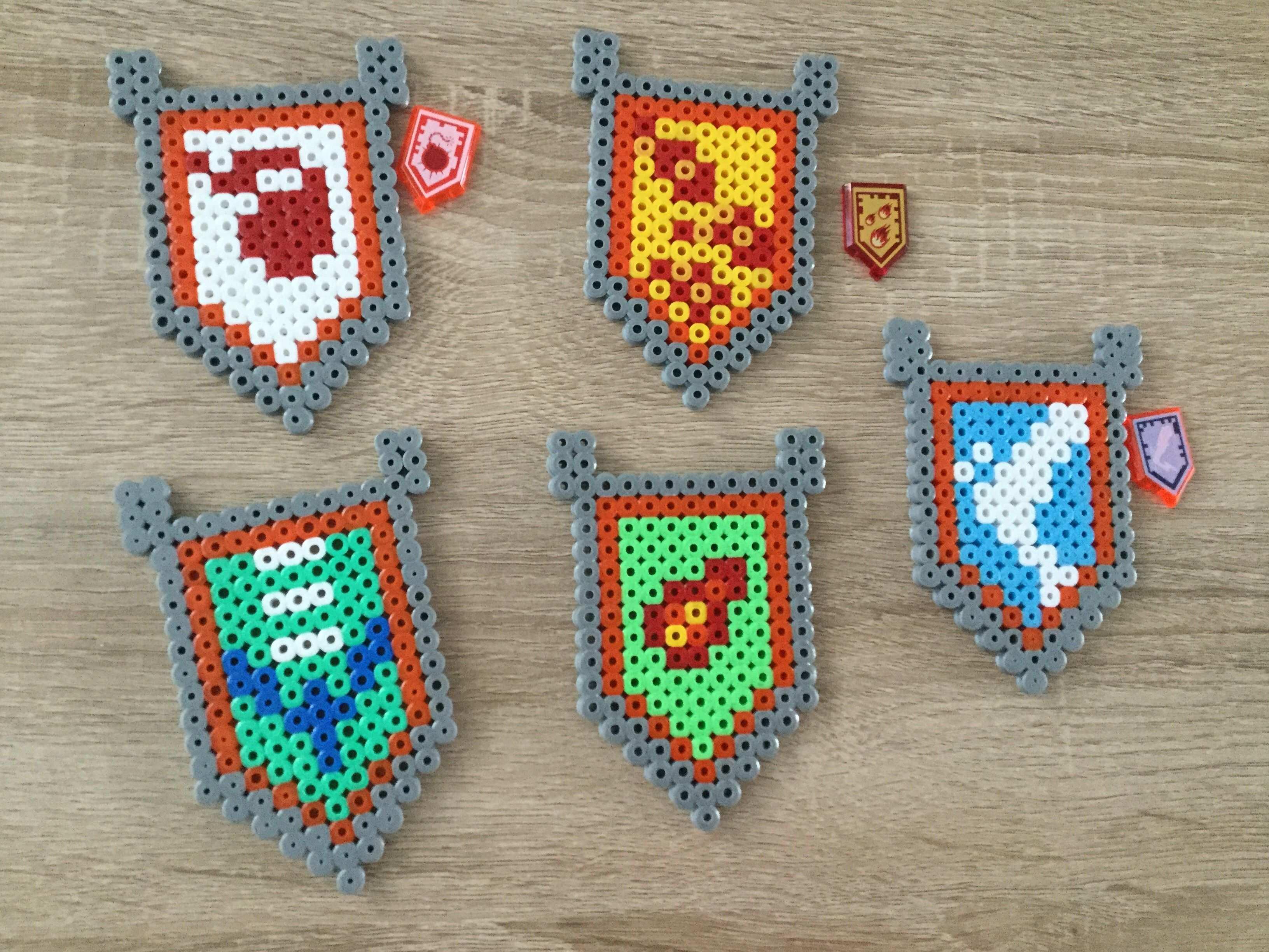 Strijkkralen Lego Nexo Knights Lego Geburtstagsparty Kindergeburtstag Bastelideen