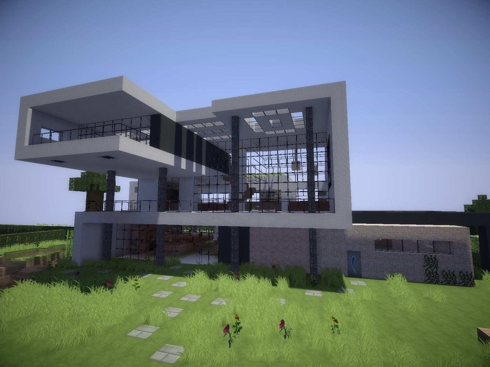 Minecraft Haus Bauen Modern Minecraft Modern Modern Minecraft Houses Minecraft House Designs