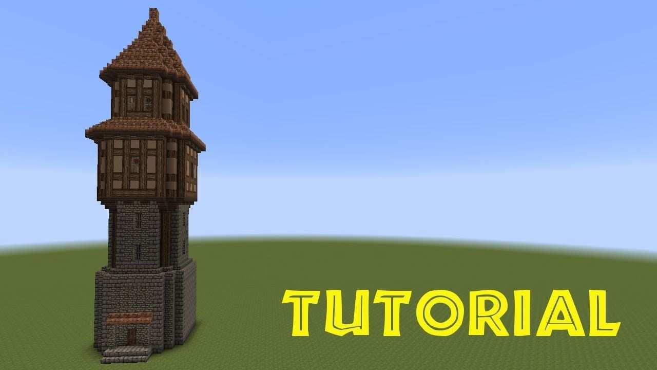 Minecraft Tutorial Turm Bauen Build A Tower Turme Bauen Minecraft Gebaude Turm