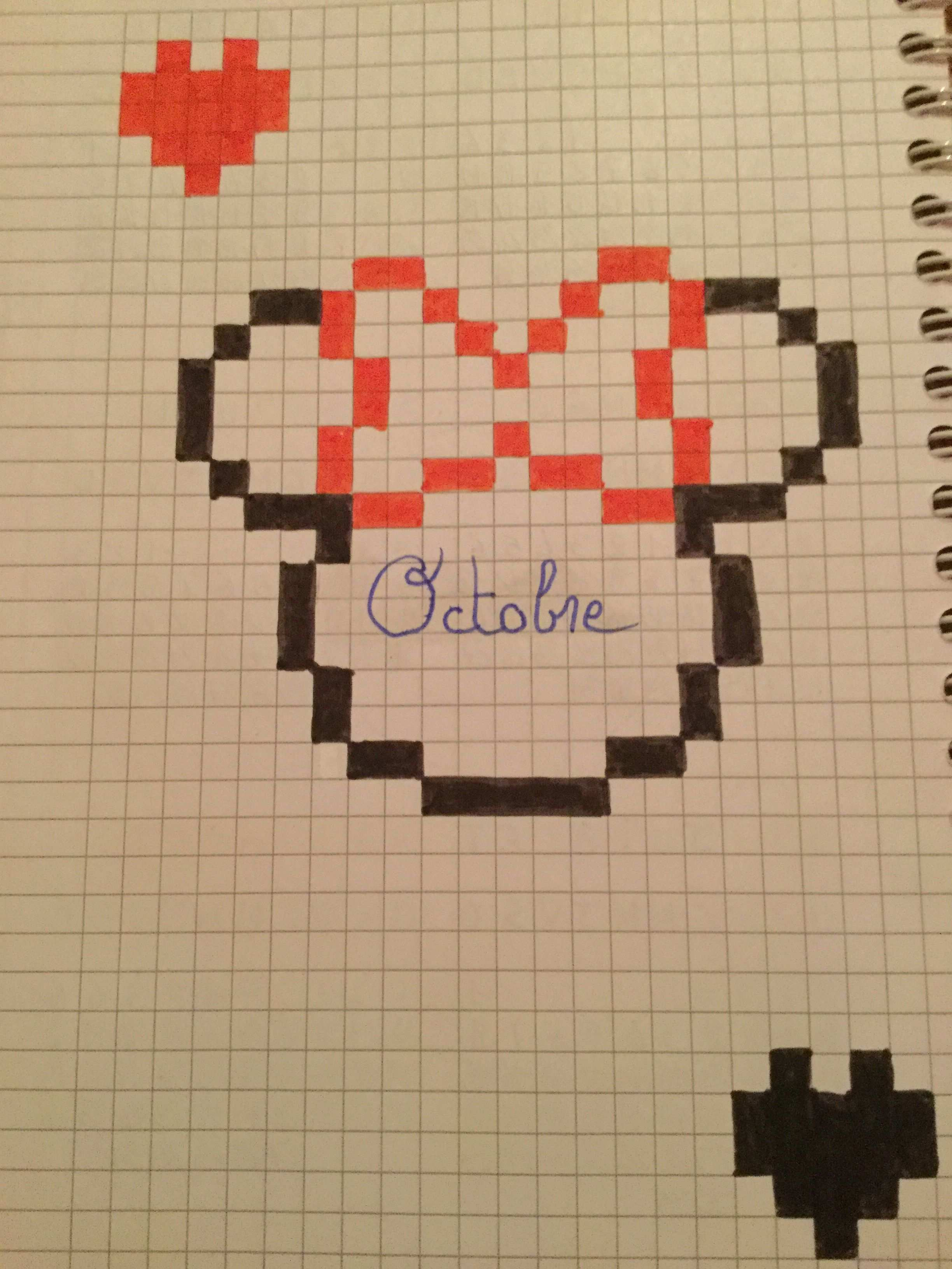 Micky Mouse Minecraft Pixels Art Pixelart Vorlagen Minecraft Zeichnungen Papierzeichnung