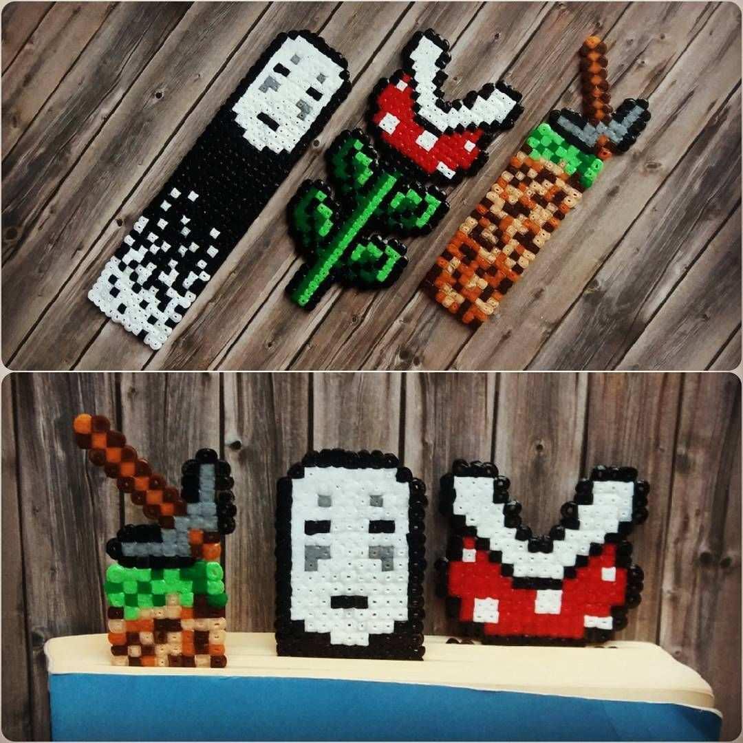 Mini Perler Beads Bookmarks Noface Minecraft Super Mario Beadsmeetgeeks Perler Beads Designs Perler Crafts Pearl Beads Pattern
