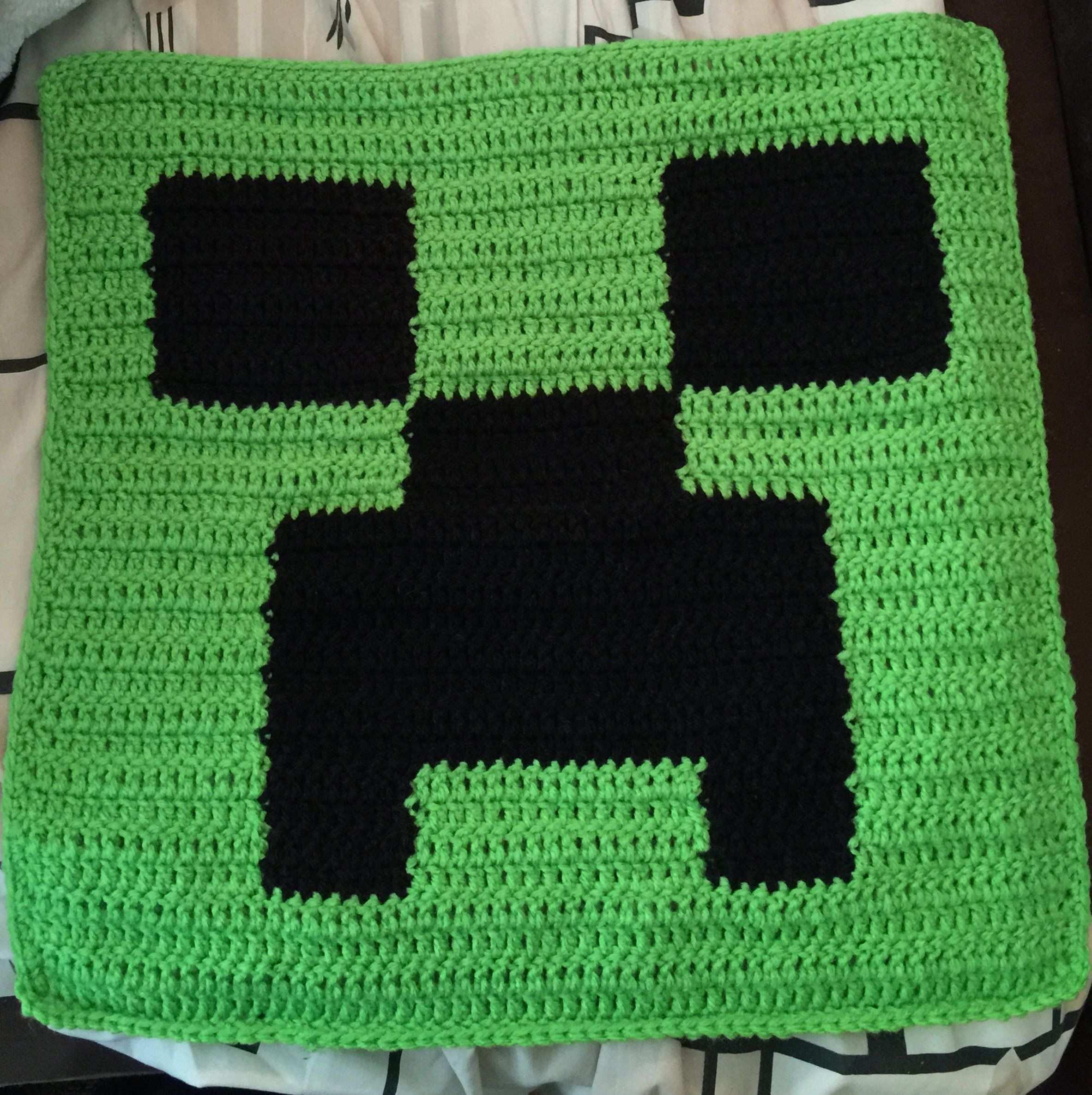 Minecraft Crochet Pillow Top Minecraft Hakeln Hakeln Fur Kinder Kissen Muster