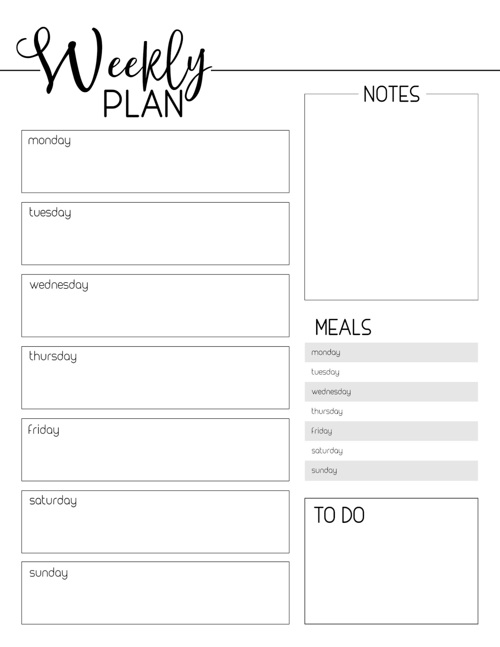 Weekly Planner Template Free Printable Paper Trail Design Weekly Planner Template Planner Template Monthly Planner Template