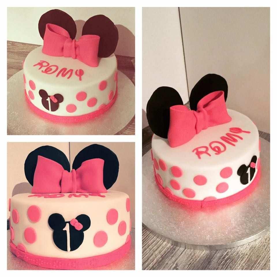 Minnie Mouse Geburtstagstorte Birthday Birthdaycake Minnie Maus Schleife Fondant Cake Torte Torte 1 Geburtstag Minnie Maus Geburtstag Minnie Maus Kuchen