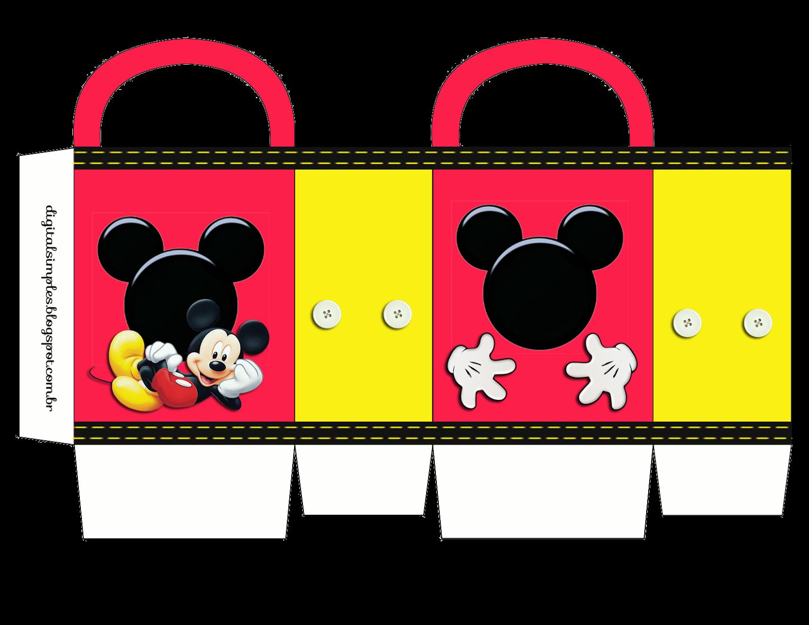 Mickey Bolsa De Papel Para Imprimir Gratis Kit Festa Mickey Kit Para Festa Infantil Mickey