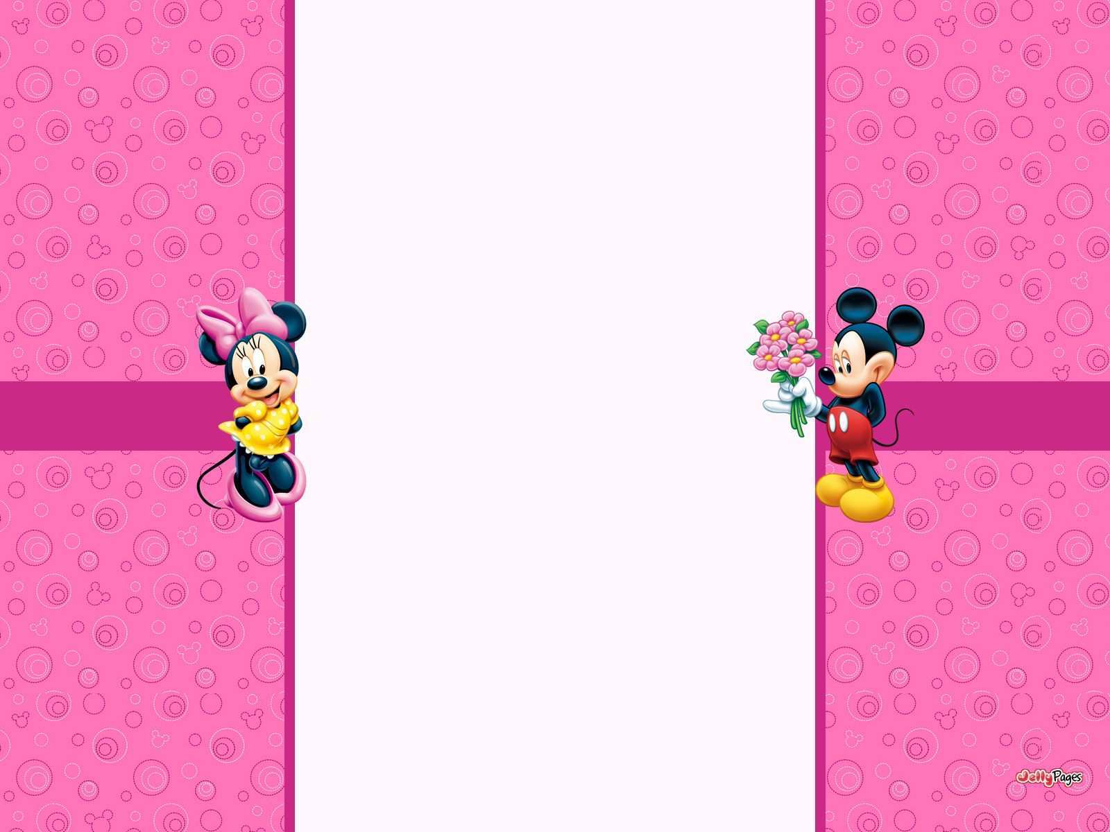 Mickey And Minnie Great For Backdrop Minnie Mouse Template Mickey Mouse Background Minnie Mouse Pink