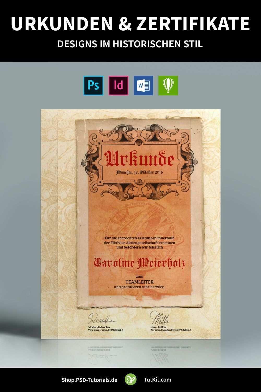Historische Urkunden Zertifikate Vorlagen Fur Word Co Urkunde Zertifikat Design Vorlagen