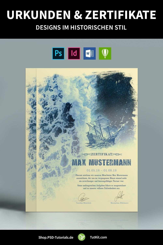 Historische Urkunden Zertifikate Vorlagen Fur Word Co Urkunde Zertifikat Vorlage Zertifikat Design