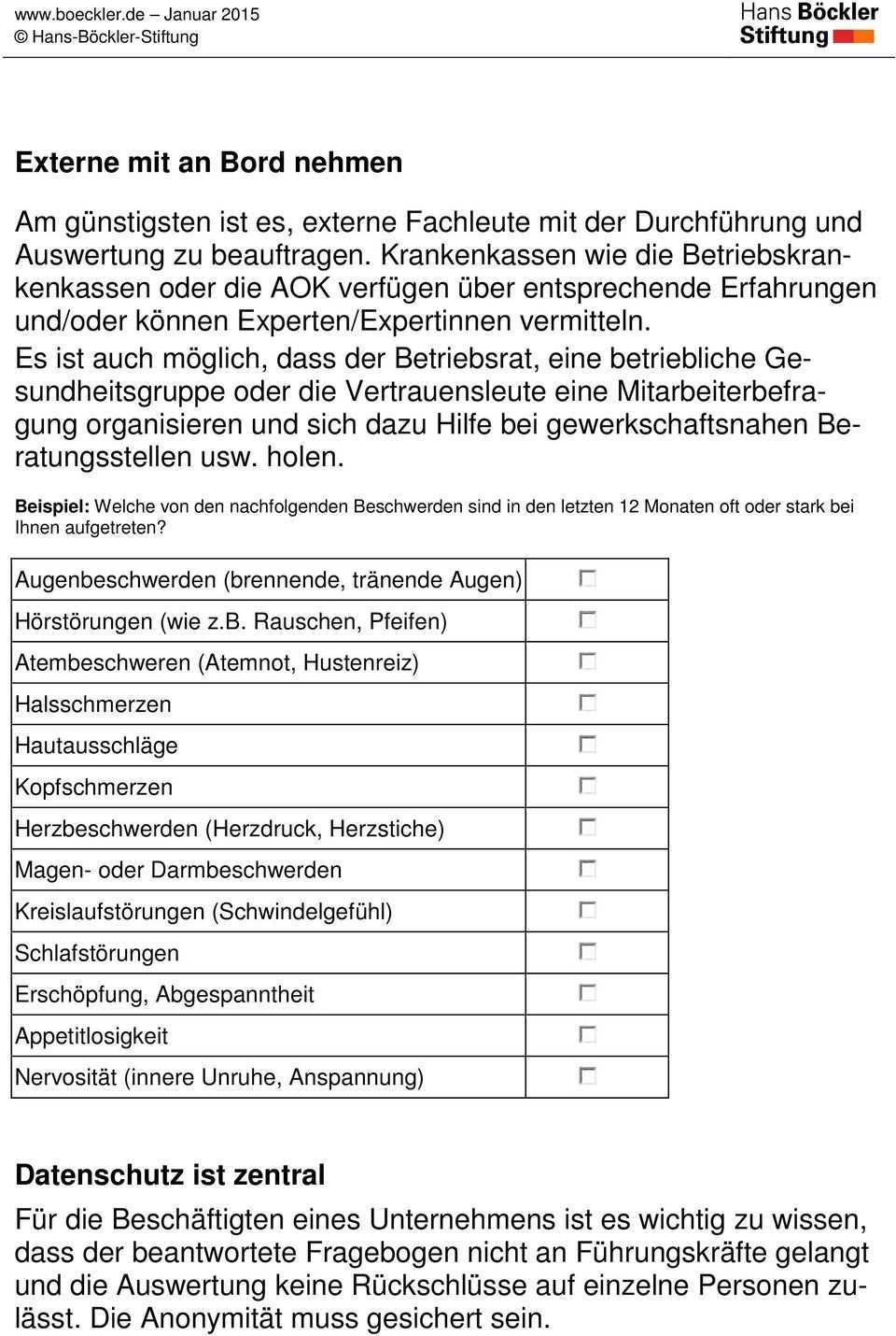 Mitarbeiterbefragungen Zu Arbeitsbelastungen Und Beschwerden Pdf Free Download