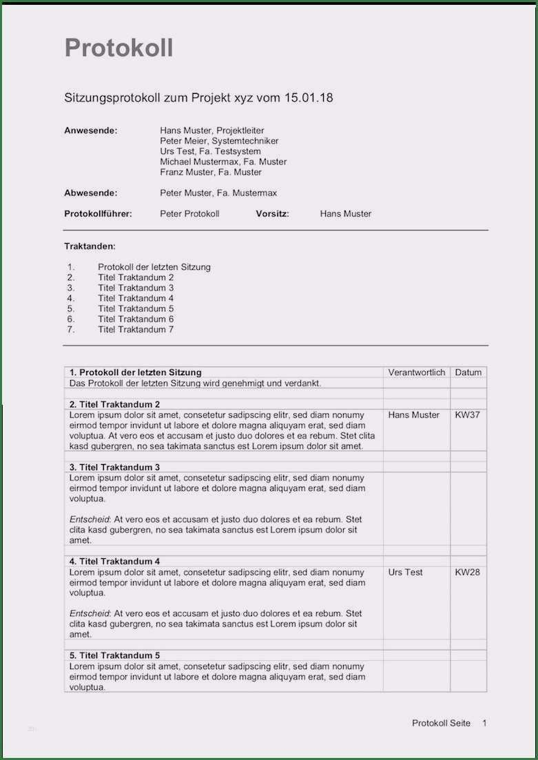 19 Hervorragend Vorlage Protokoll Mitarbeitergesprach Words Resume Job