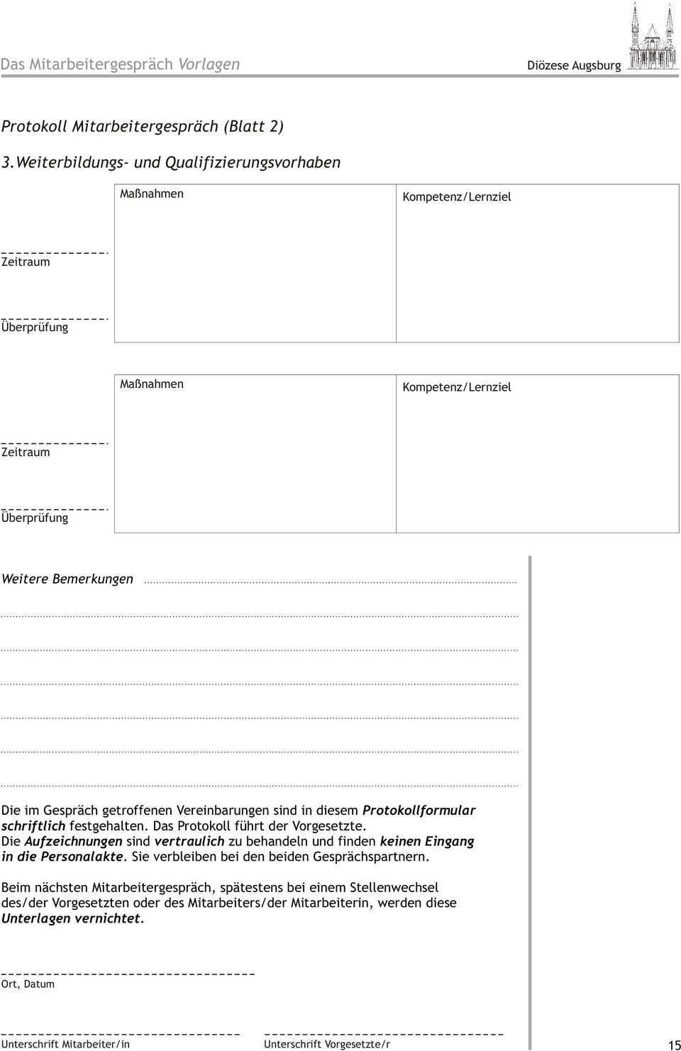 Das Mitarbeitergesprach Leitfaden Diozese Augsburg Pdf Kostenfreier Download