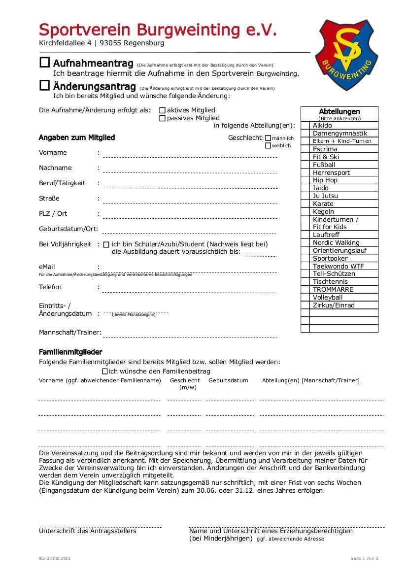 Sportverein Burgweinting E V