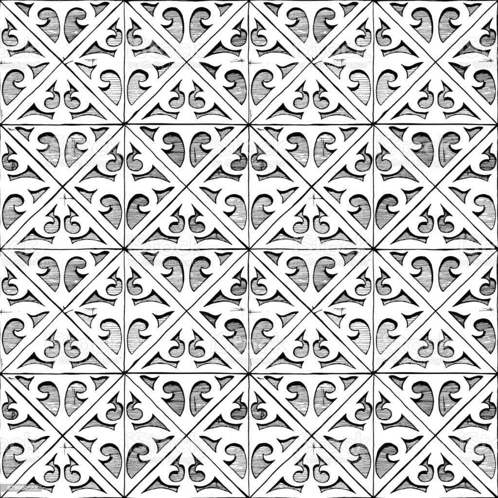 Mittelalterliche Nahtlose Ornamente Stock Vektor Art Und Mehr Bilder Von Abstrakt Istock