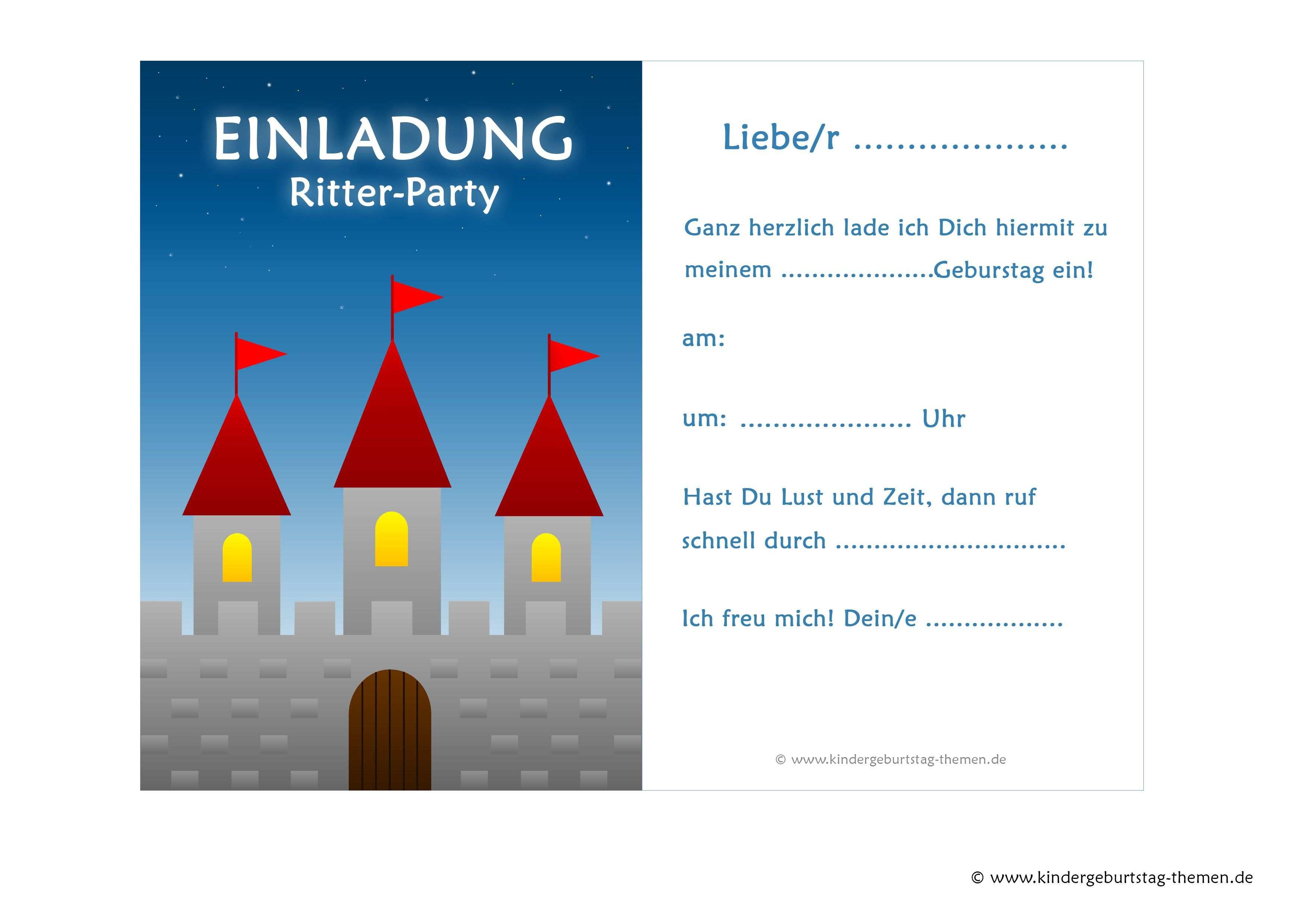 Ritter Einladungskarten Kostenlose Vorlagen Zum Ausdrucken Vorlage Einladung Kindergeburtstag Einladungskarten Kostenlos Einladung Kindergeburtstag