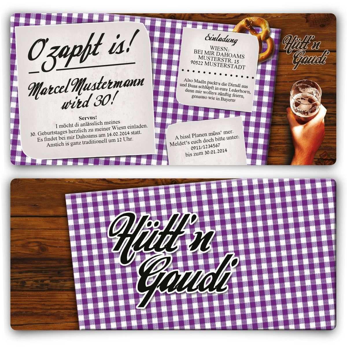Einladungskarte Hutt N Gaudi Lila Geburtstag Einladung Geburtstagseinladung Huttngaudi Lila Birthday Geburtstagseinladungen Geburtstag Einladungskarten