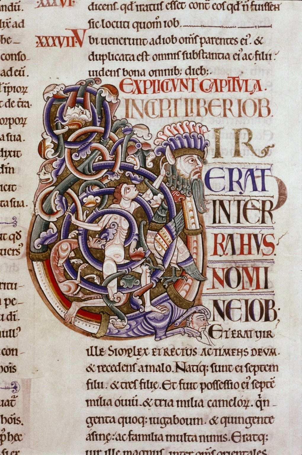 Initiale D Une Bible Du 12e Siecle Bodleian Auct E Inf 1 Initialen Buchstaben Bucher