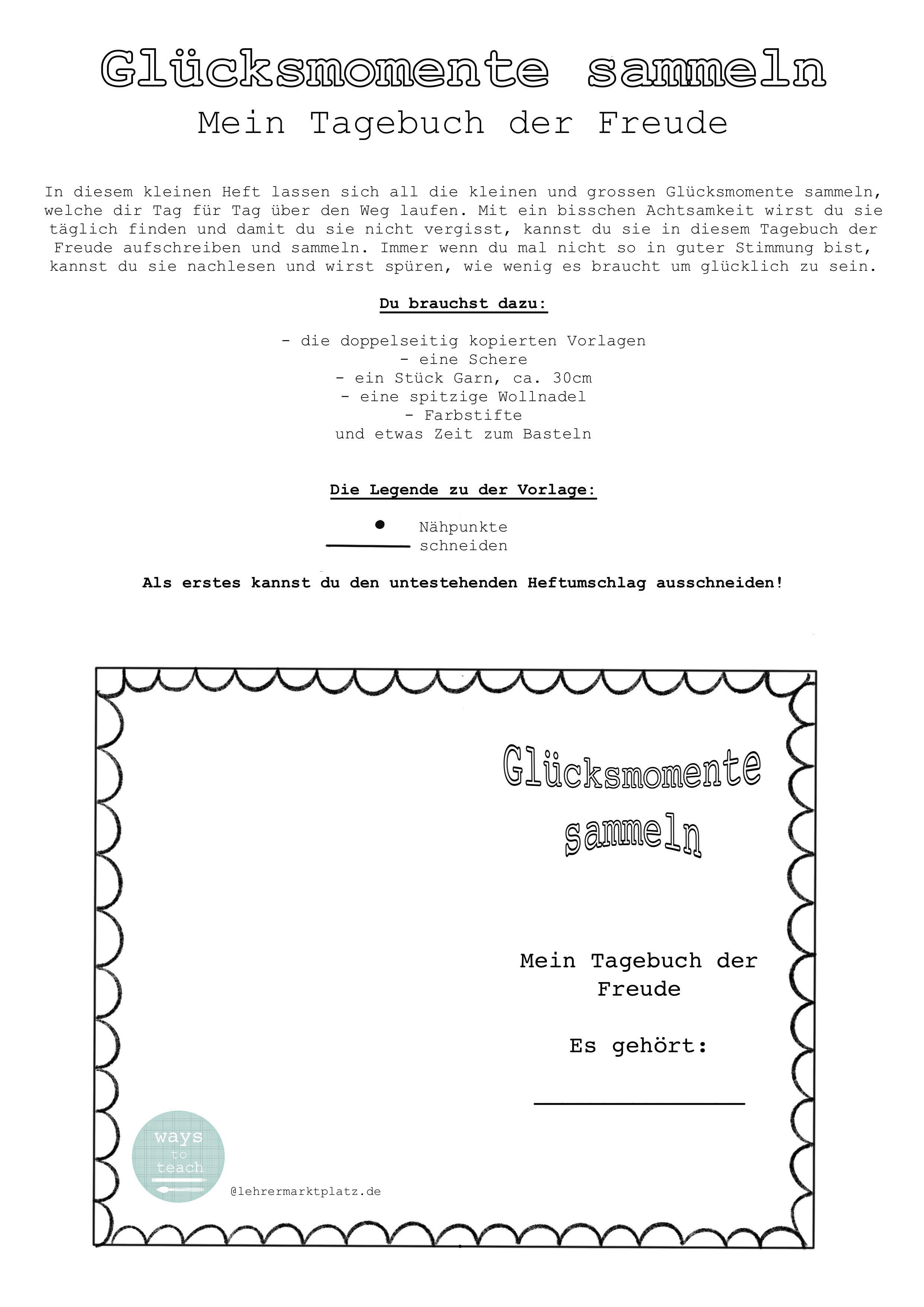 Glucksmomente Sammeln Und Tagebuch Der Freude Schreiben Unterrichtsmaterial In Den Fachern Ethik Kunst In 2020 Ethik Unterricht Ethik Dieser Moment