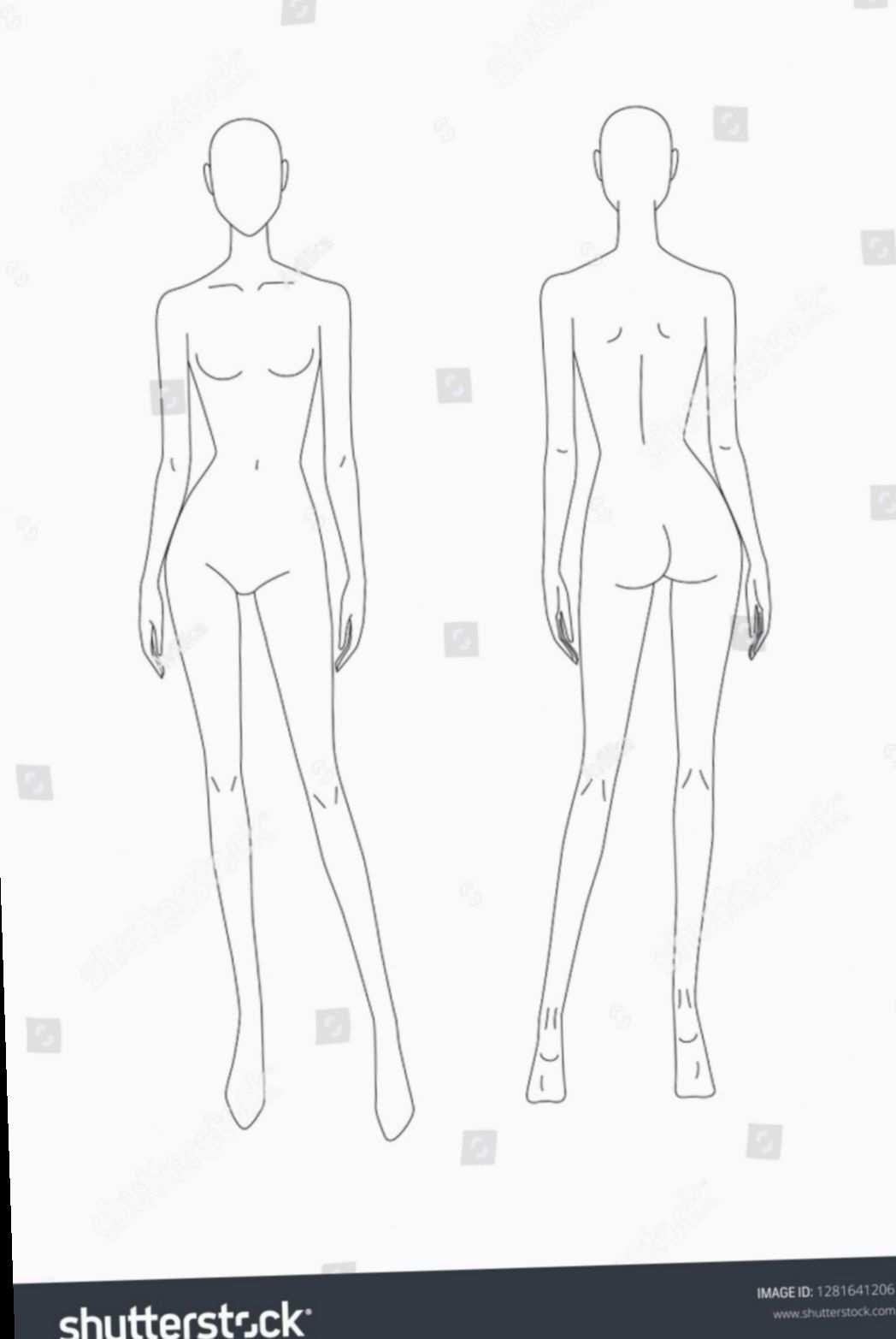 Fashion Model Template Front And Back Fitness Uae Bollywood Designers De Moda Croquis De Moda Desenho De Moda