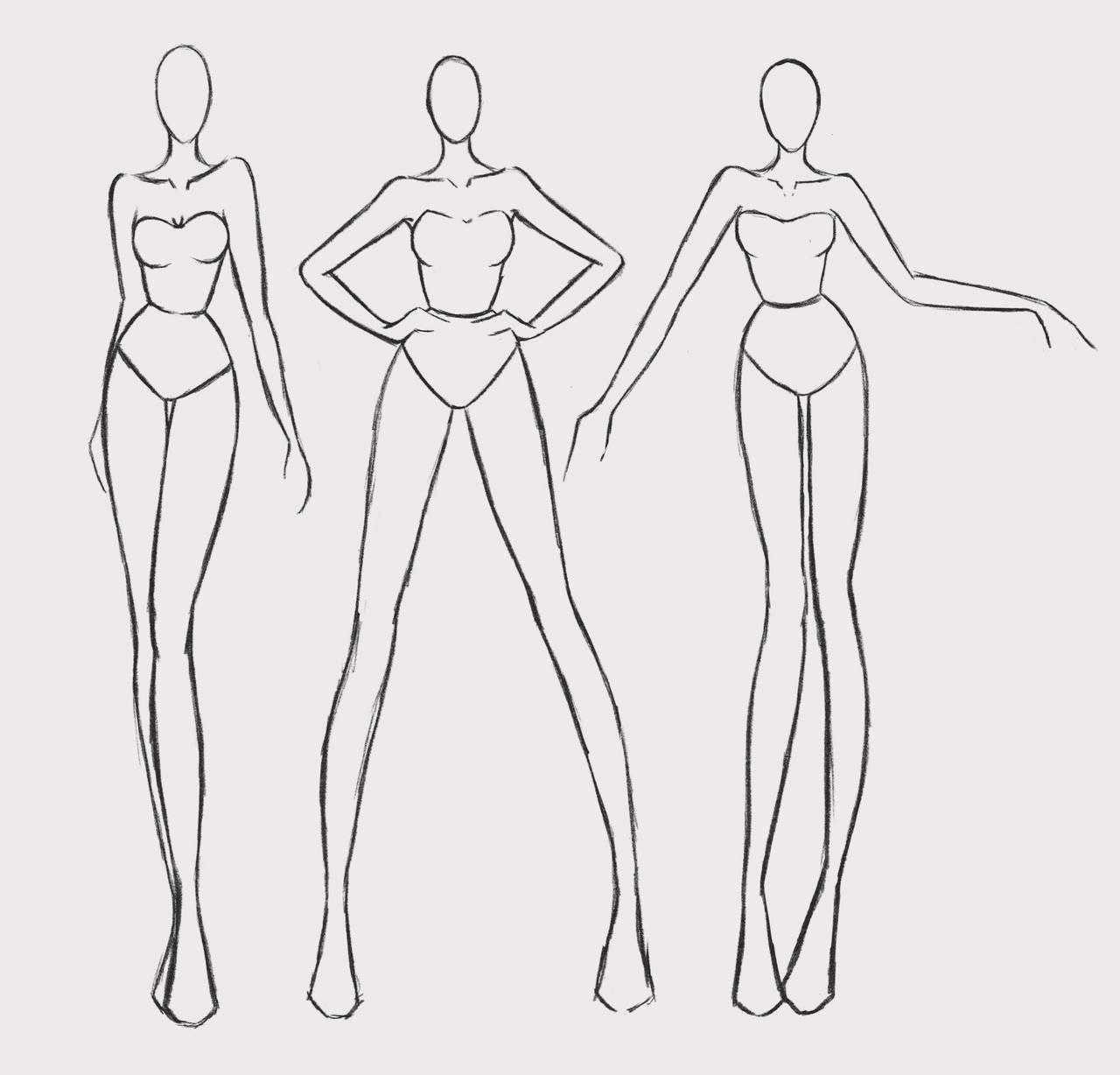 Fashion Figures By Silenceinsilver On Deviantart Mode Zeichnen Illustration Mode Modeskizzen