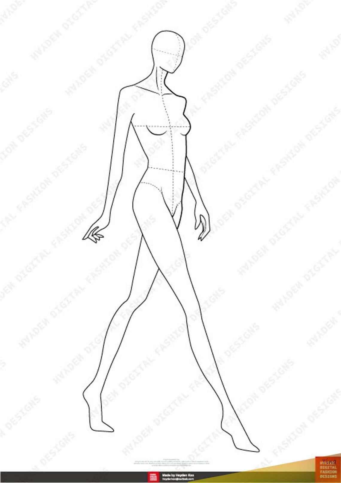 06 Mar 2020 Https Hydnstudio Com Female Fashion Figure Template 10 Head Hydnstudio Com En 2020 Ilustracion De Moda Figuras De La Moda Portfolio De Moda