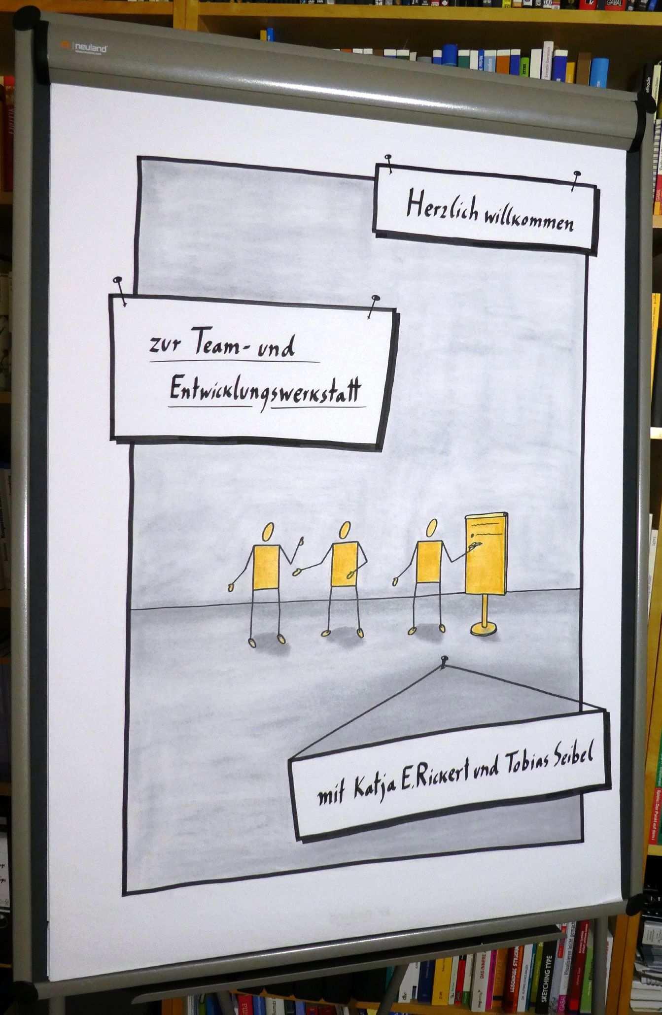 Flipchart Willkommen Teamtraining Flipchart Gestalten Flipcharts Flipchart