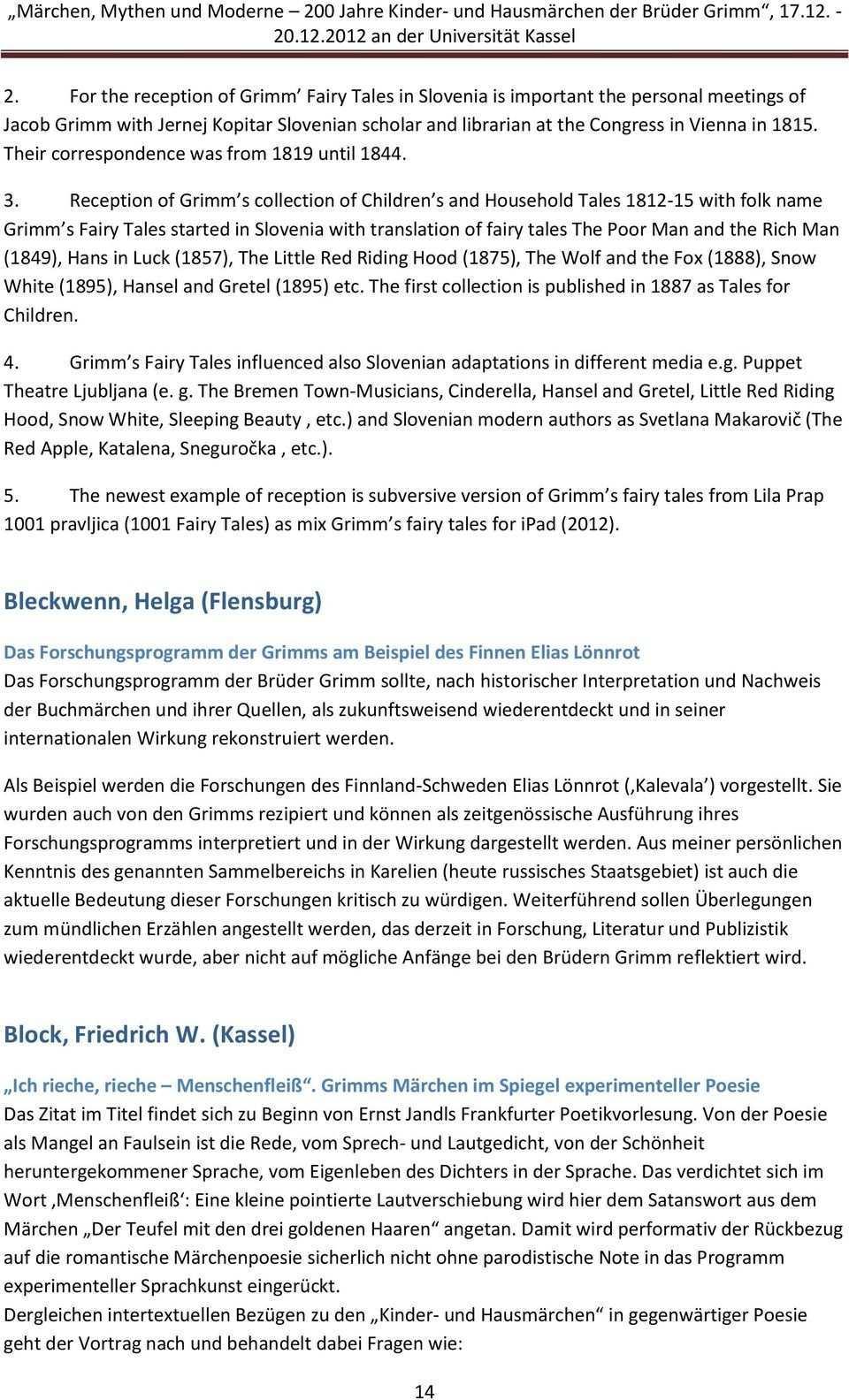 Marchen Mythen Und Moderne 200 Jahre Kinder Und Hausmarchen Der Bruder Grimm An Der Universitat Kassel Pdf Free Download
