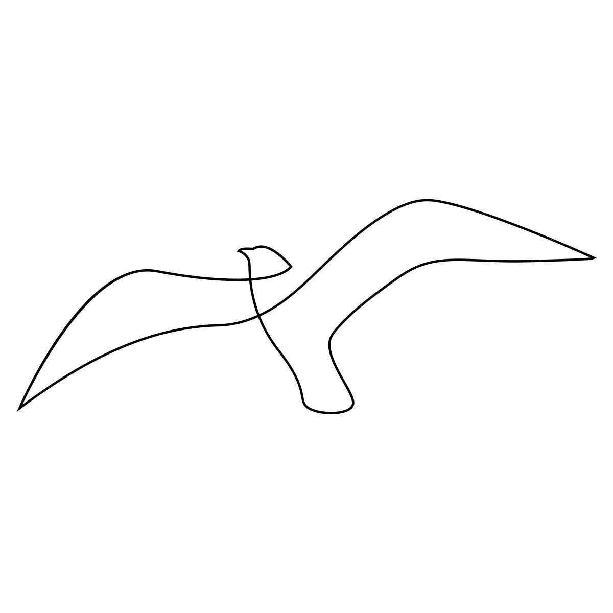 Adorable One Line Seagull By Addillum Addillum Adorable Ankletatto Arrowtatto Bestfriendtatto In 2020 Vogel Zeichnen Abstrakte Zeichnungen Linientattoos