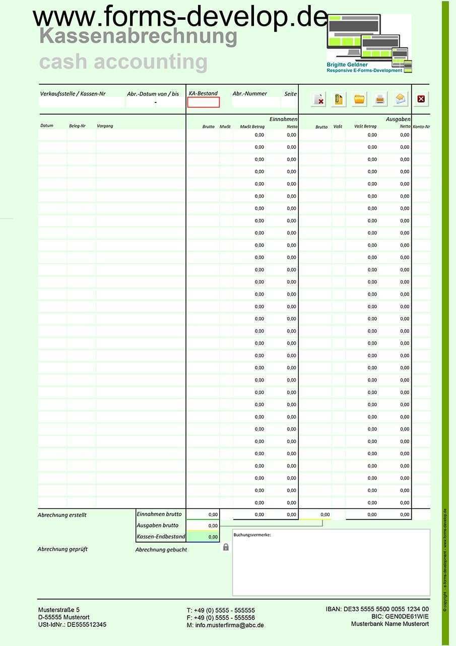 Pdf Kassenbuch Kassenbericht Verkaufsstelle Kostenstelle Kassen Nr Individuelle Abrechnunsperiode Vortrag Kassenbesta Kassenbuch Excel Vorlage Vorlagen