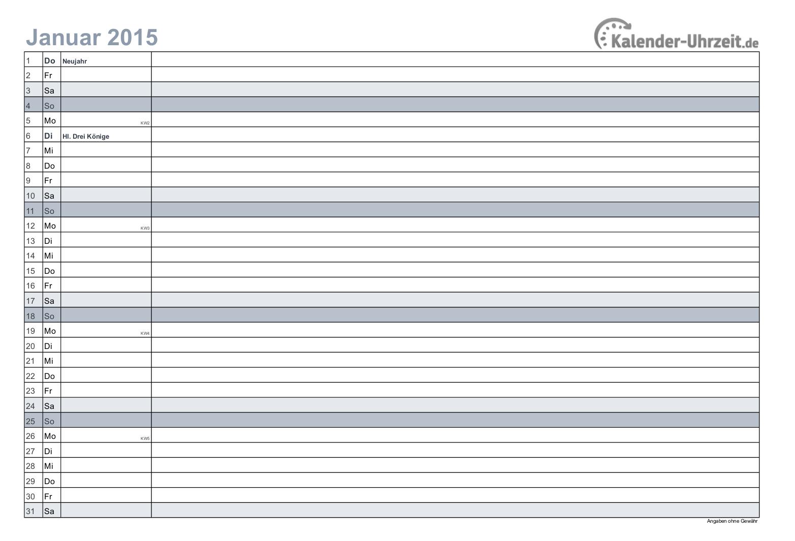 Kalender 2015 In Schwarz Weiss Druckerfreundlich A4 Querformat 12 Seitiger Monatskalender Kaluhr Kalender Feiertage Kalender 2015 Kalender