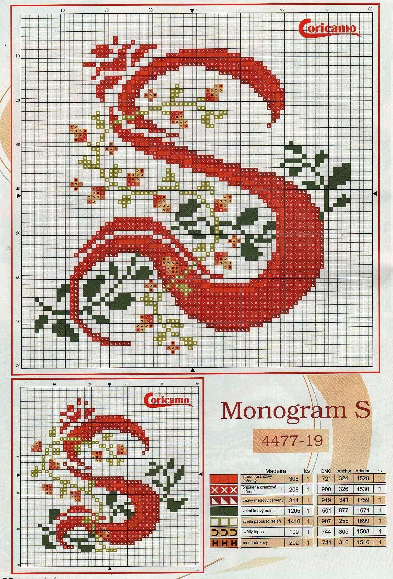 Monogramm S Kreuzstichschrift Kreuzstichbuchstaben Monogramm Kreuzstich