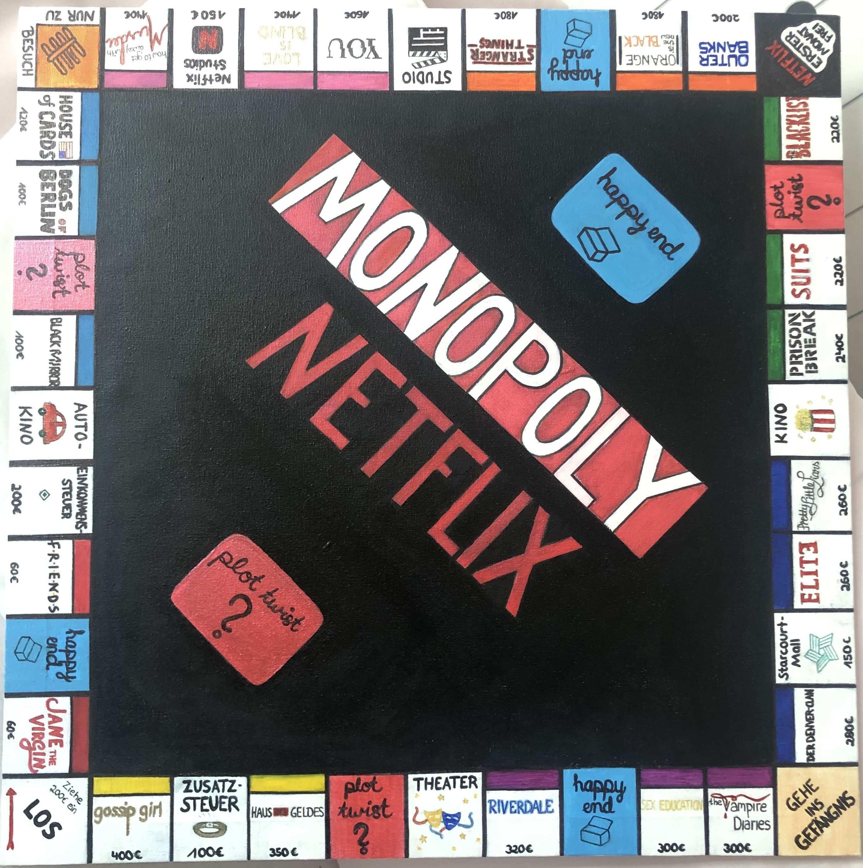 Netflix Monopoly Brett Vorlage Brettspiel Selber Machen Spiele Selber Machen Osterhasen Basteln Kinder