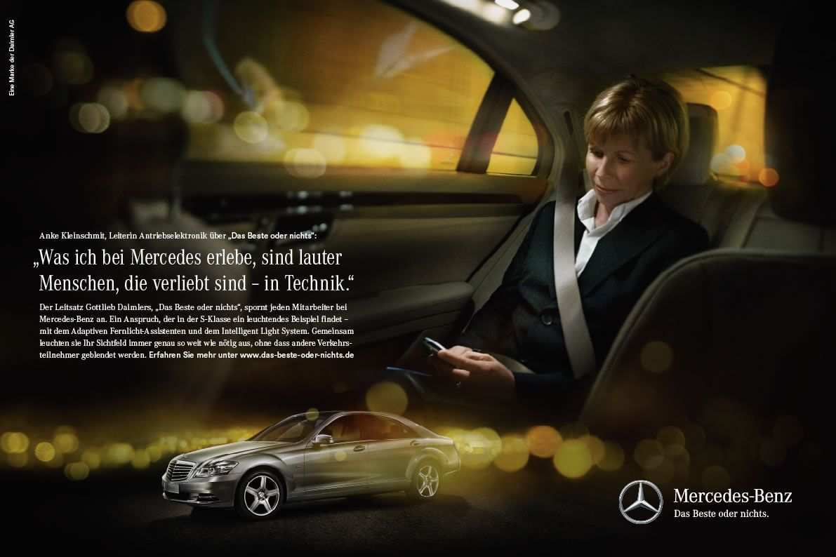 Mercedes Benz The Best Or Nothing The Motto Is Meant To Exemplify Perfection Fascination And Responsibility As Core Values F Mercedes Mercedes Benz Benz