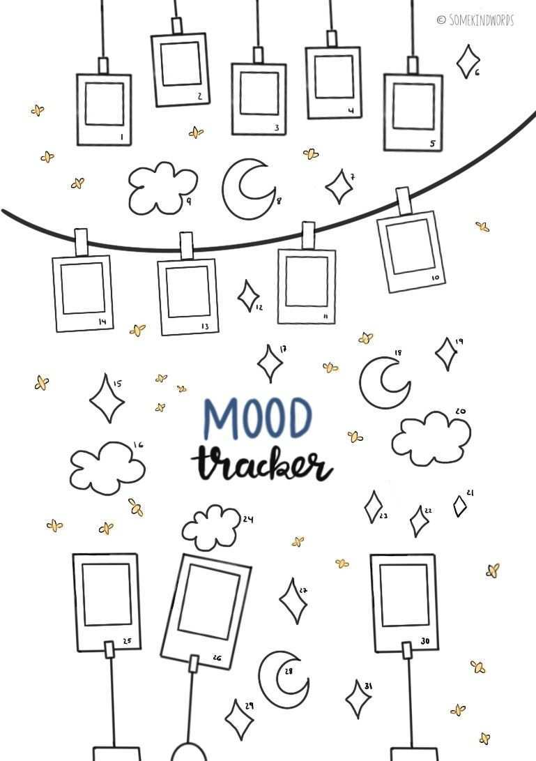 Mood Tracker Kostenlose Vorlage Zum Ausdrucken Bullet Journal Diy Bullet Journal Mood Making A Bullet Journal