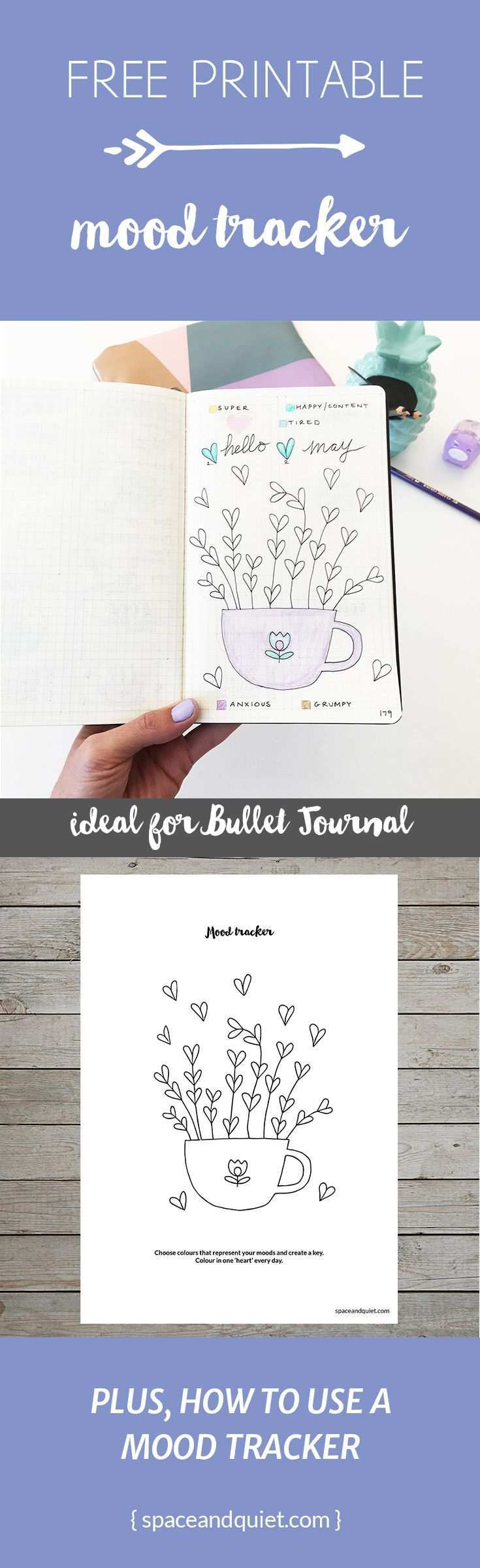 Printable Mood Tracker For Bullet Journal Free Download Bullet Journal Mood Bullet Journal Bullet Journal Printables