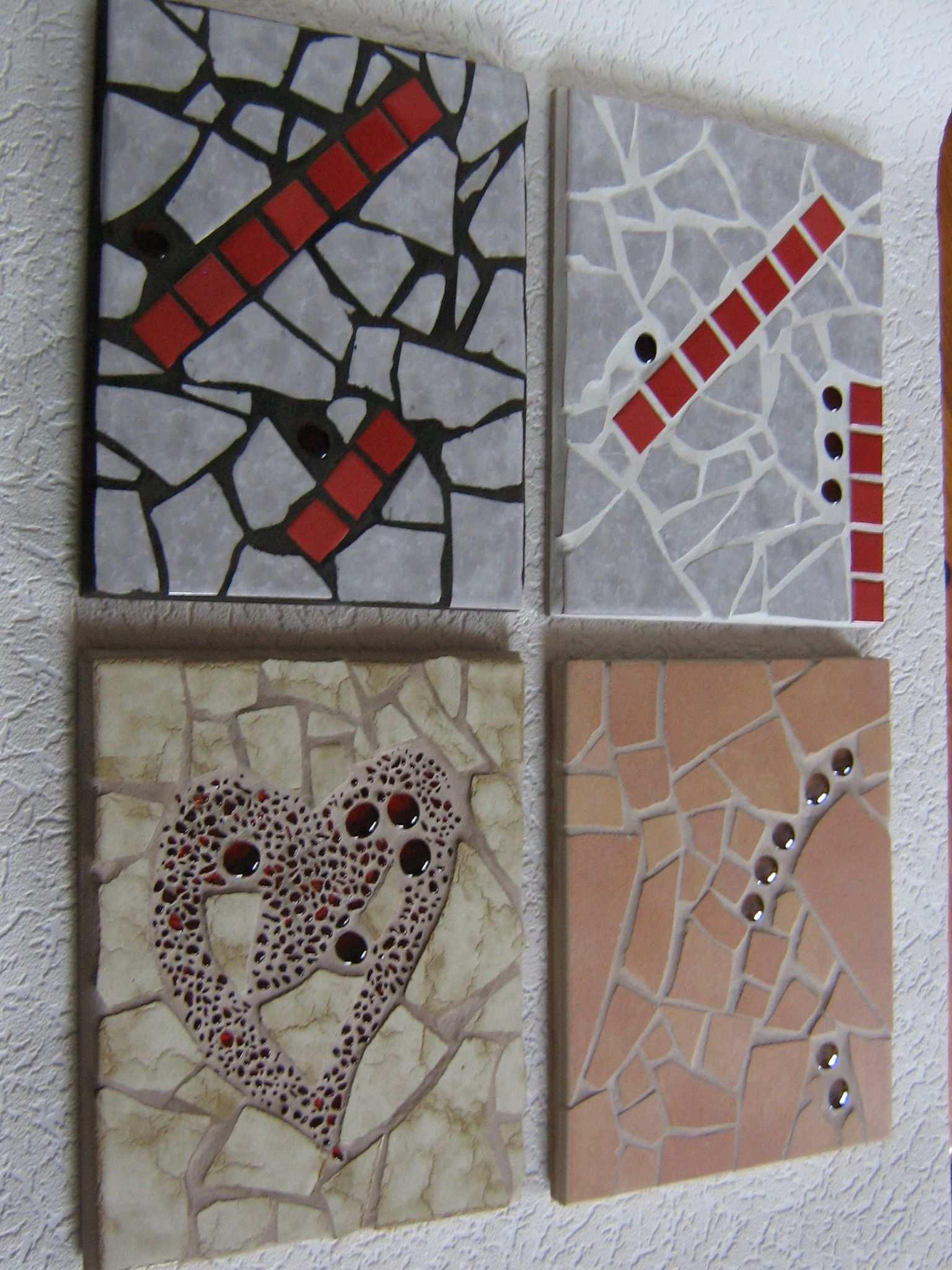 Topfuntersetzer Mit Mosaik Aus Fliesen Und Glassteinen Mosaik Fliesen Topfuntersetzer