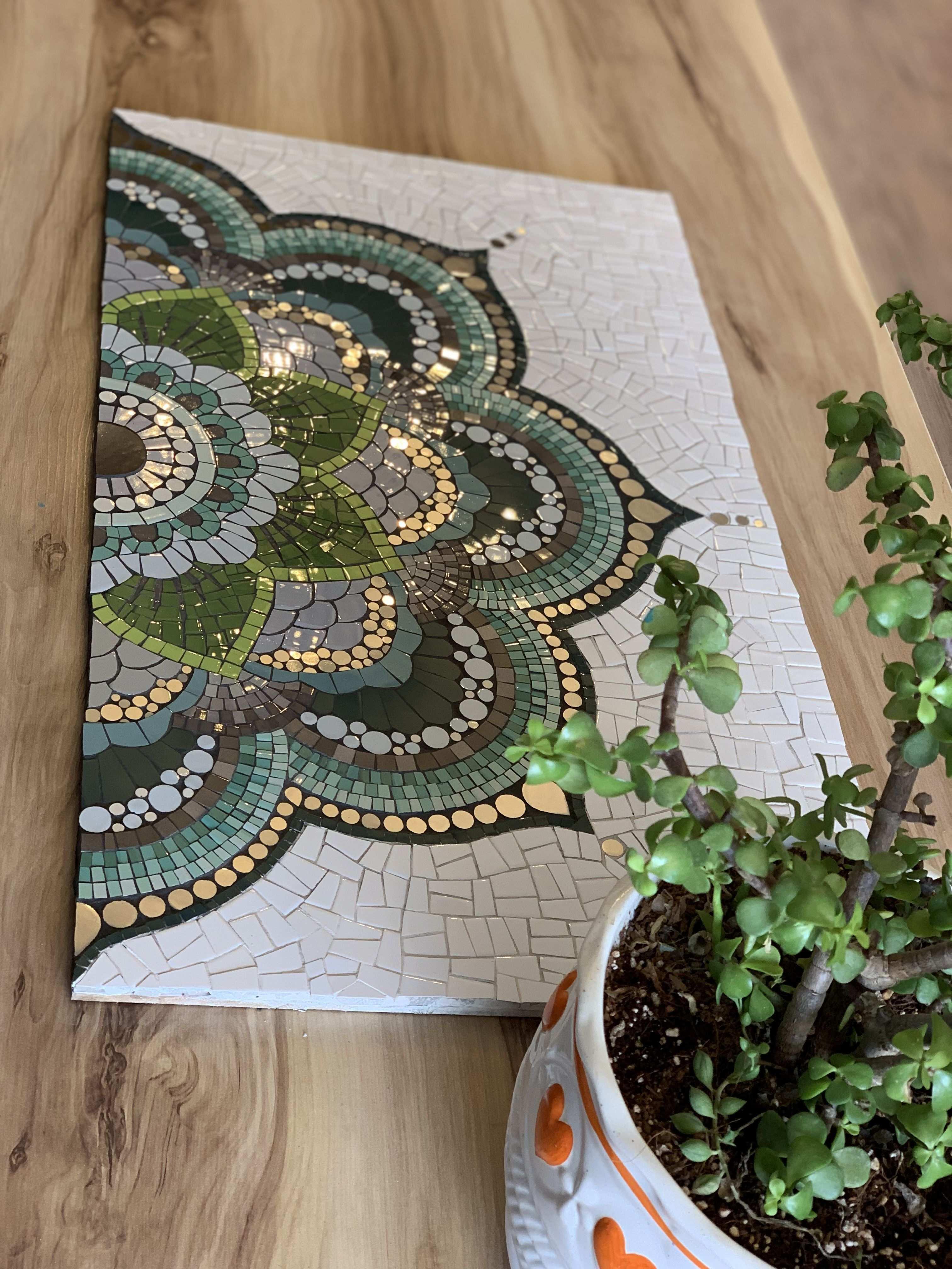 Mosaic Mandala Mandala Mauer Mosaic In 2020 Mosaik Diy Mosaik Mosaikfliesen