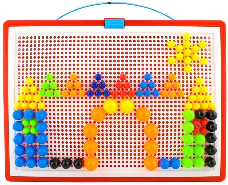 Iso Trade Buntes Steckspiel Mosaik Steckspiel 300 Stecker In 3 Grossen Koffer 4501 Amazon De Spielzeug