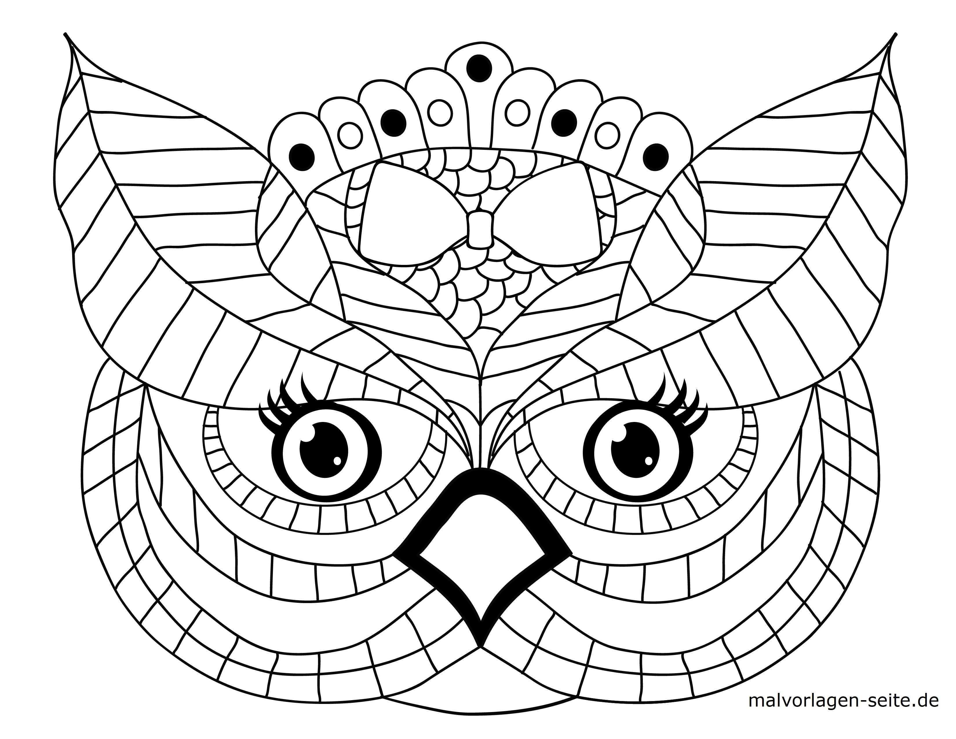Malvorlage Tiermandala Eule Tiere Mandala Kostenlose Ausmalbilder