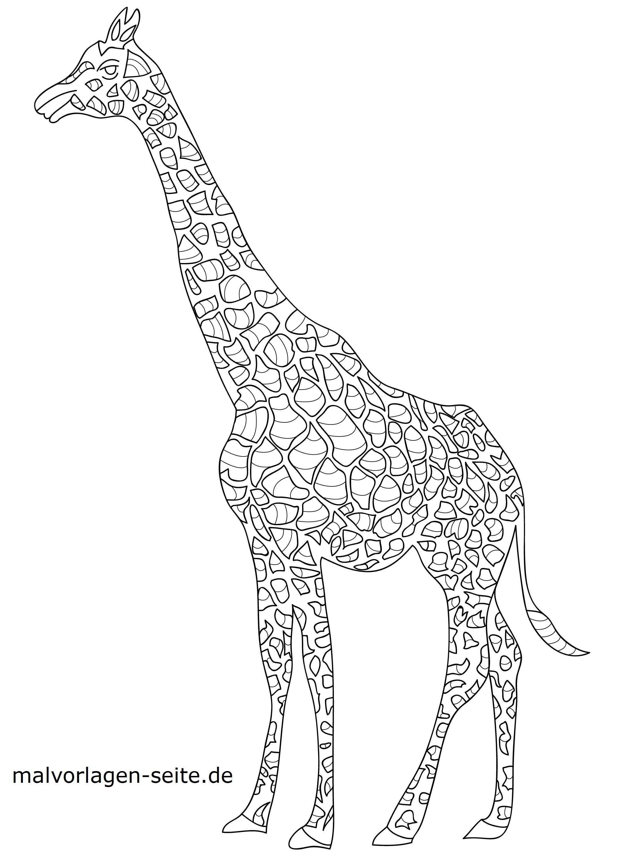 Malvorlage Tiermandala Giraffe Tiere Mandala Kostenlose Ausmalbilder