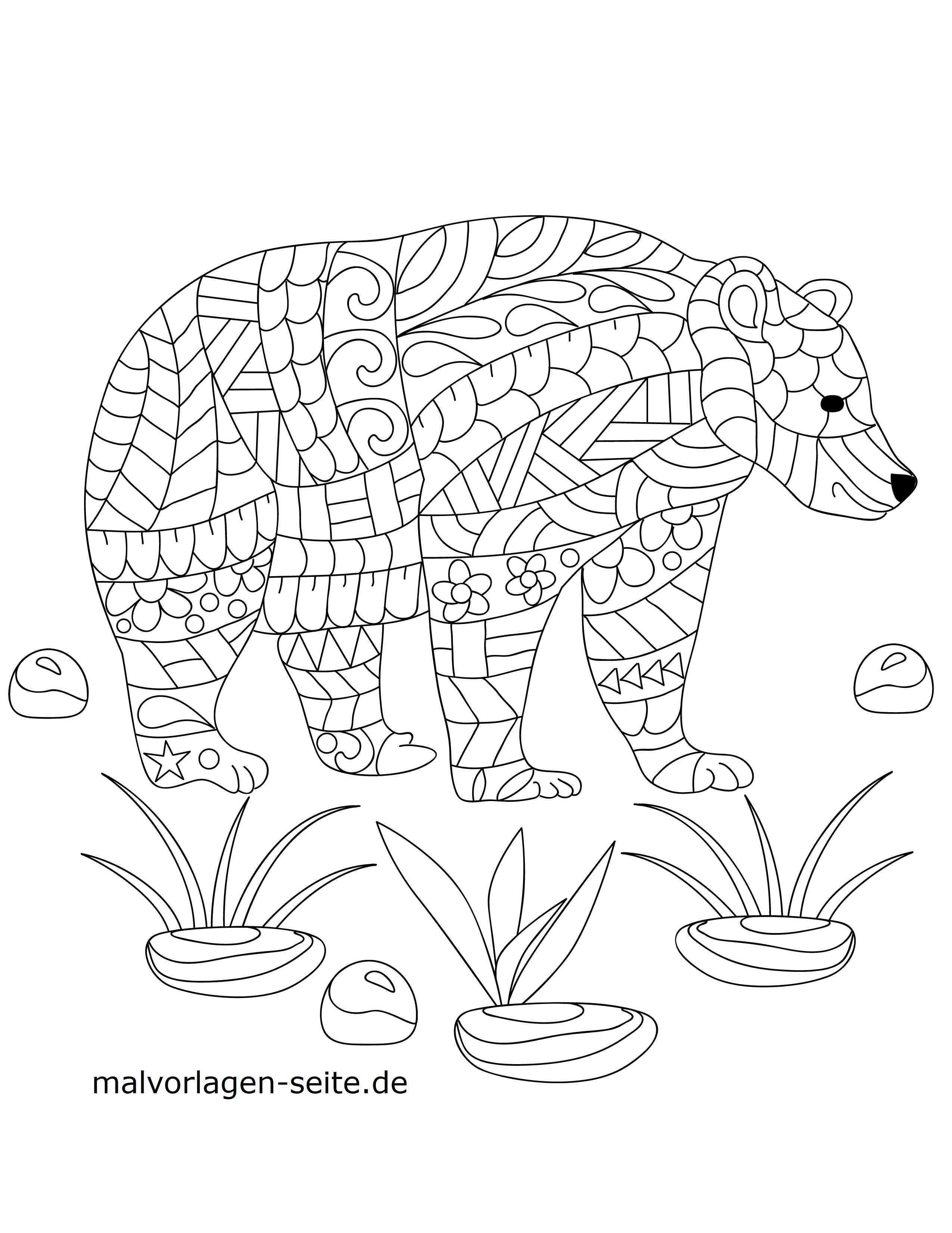 Malvorlage Tiermandala Bar Mandala Kostenlose Ausmalbilder