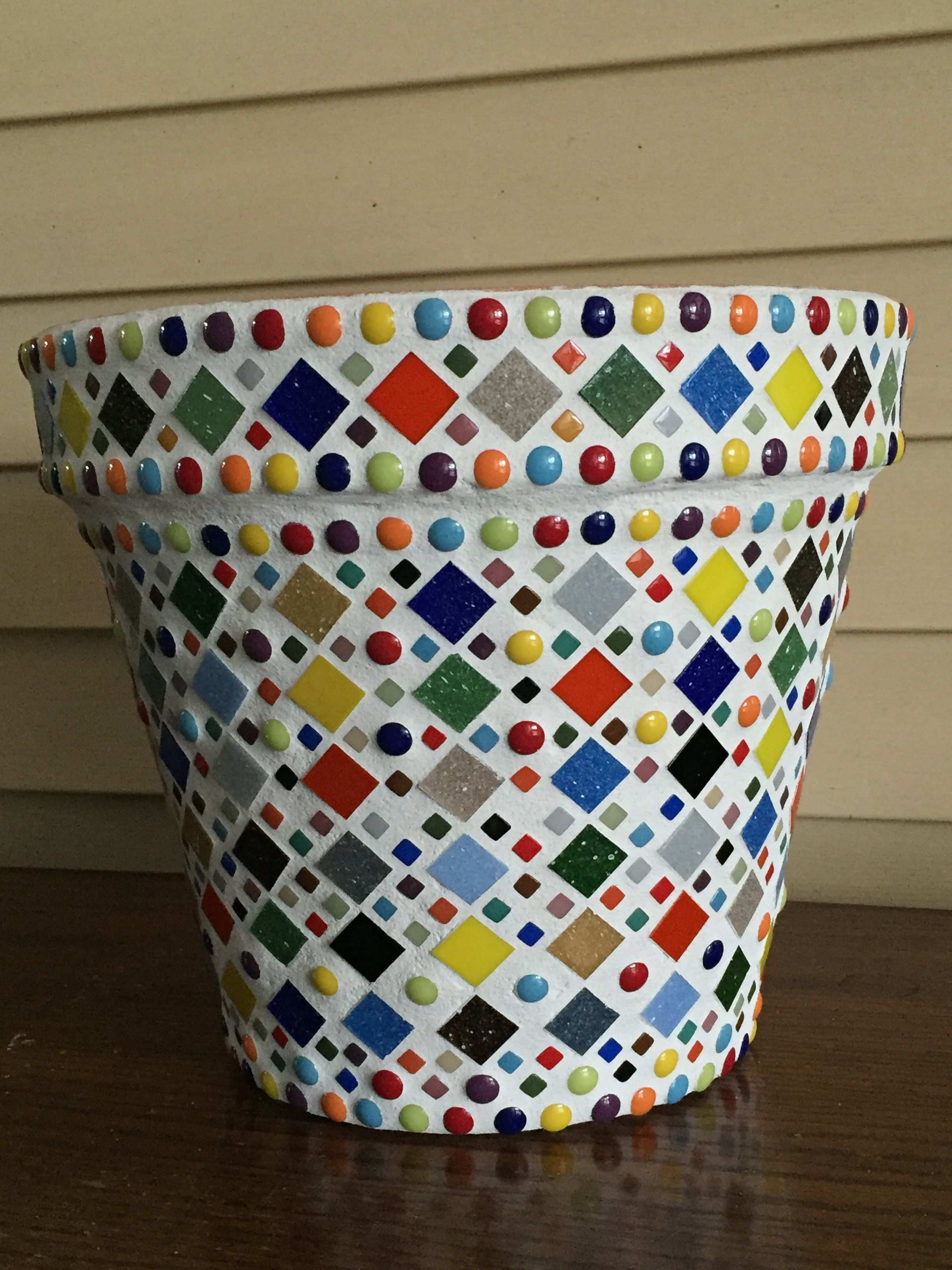 Finished Another Mosaic Pot Mosaik Selbermachen