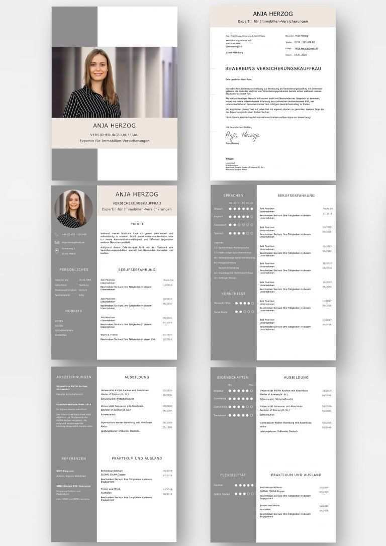 So Sieht Eine Perfekte Bewerbung Aus Bewerbungsvorlage Als Download Lebenslauf Design Lebenslauf Moderner Lebenslauf