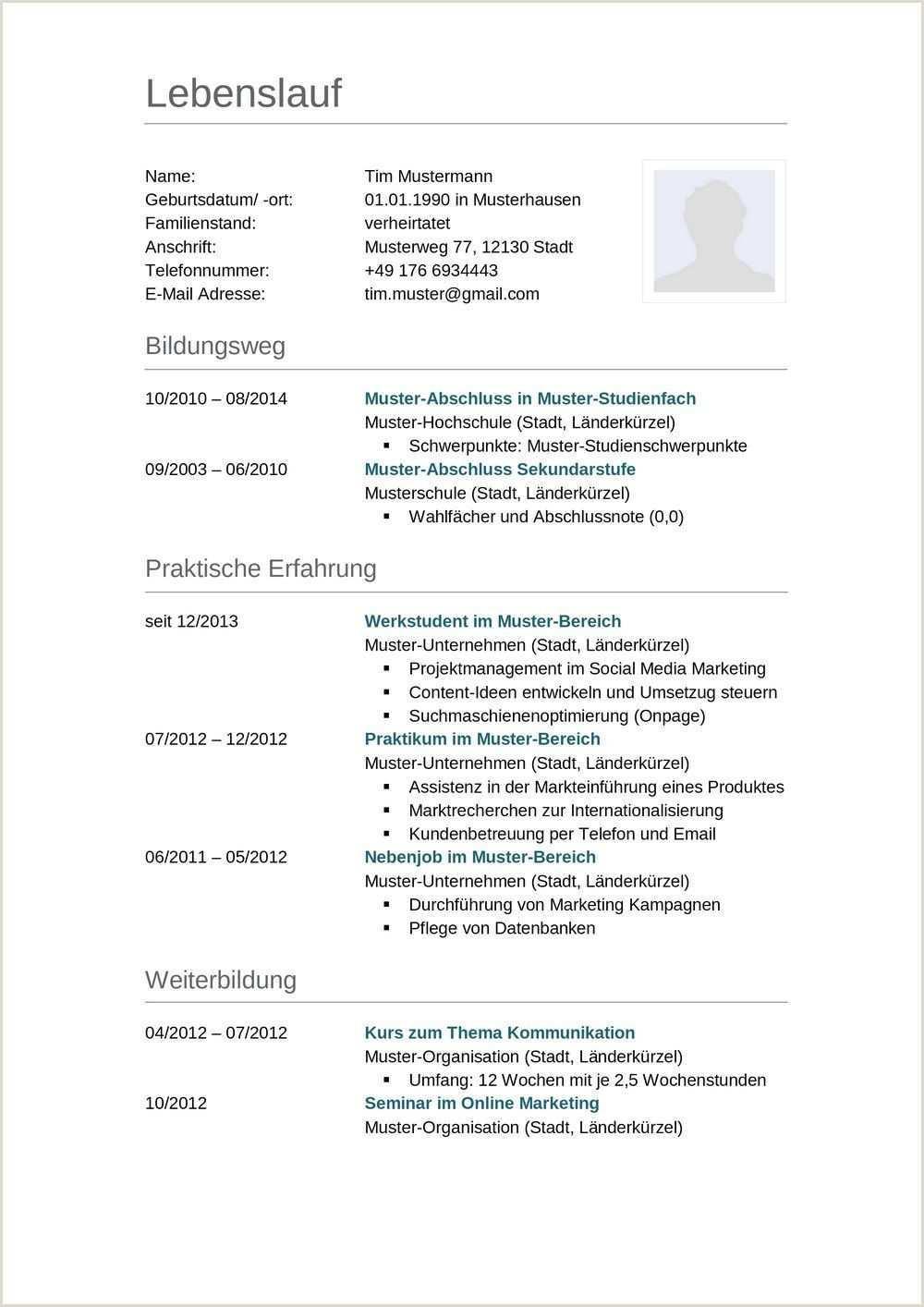 Lebenslauf Muster Schuler Nebenjob In 2020 Resume Words Resume Template Free Resume Template