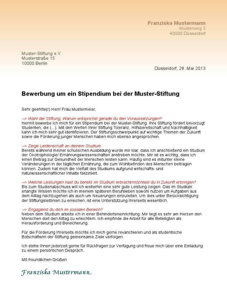 Motivationsschreiben Daimler Ausbildung Muster
