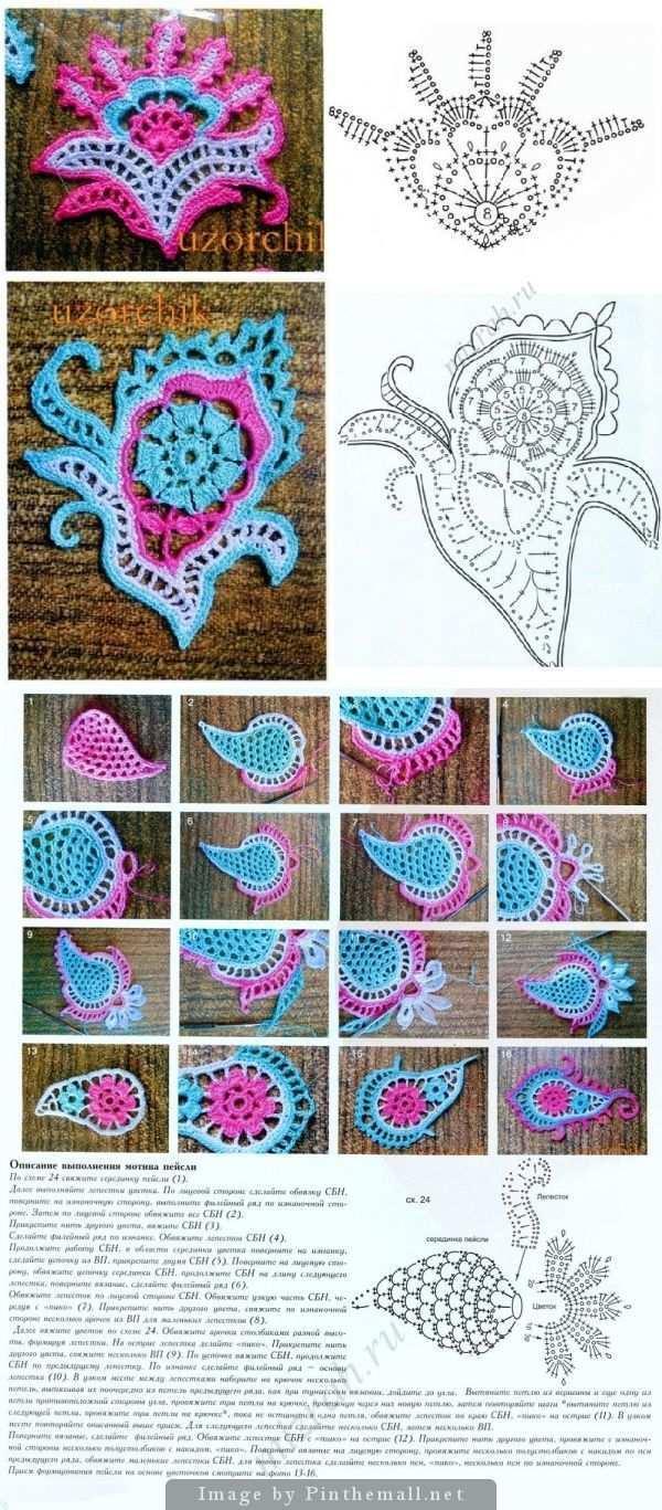 Crochet Stitches Tutorial Wunderschone Charts Fur Paisley Motive An Dieser Stelle Stricken Und Hakeln Formen Hakeln Hakeln Muster Lace Hakeln