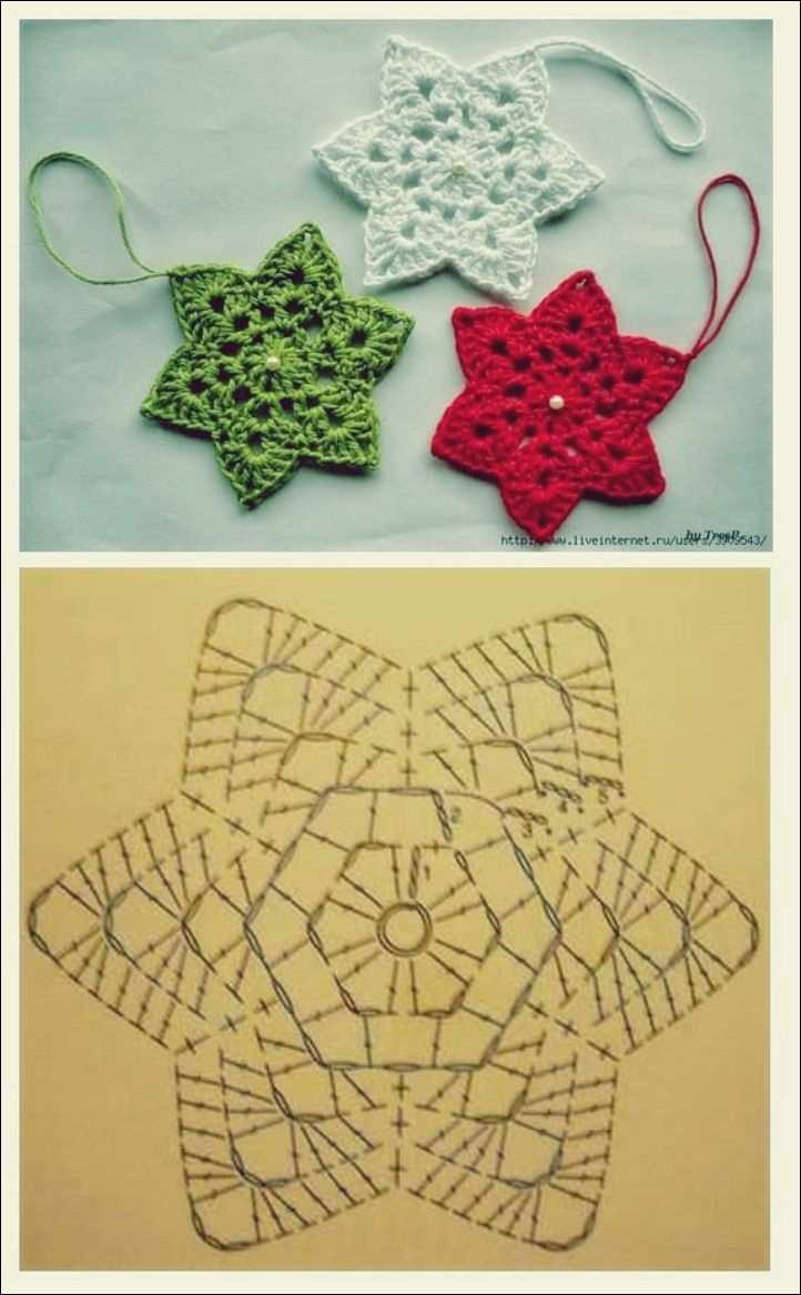 Das Motiv 6 Facets Free Knitting Adventkalender Weihnachtssterne Hakeln Stern Hakeln