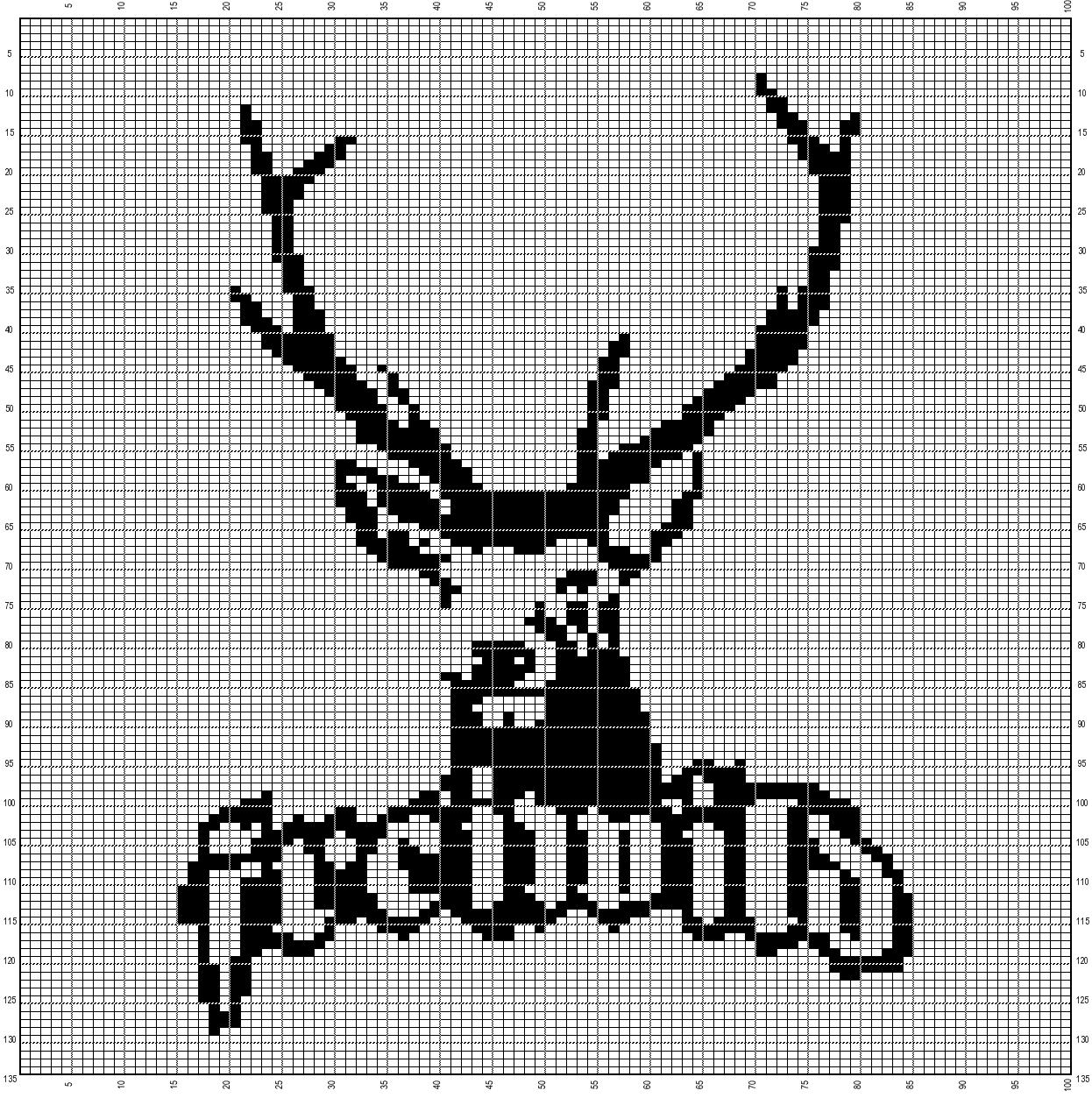 Freiwild 100x135 C2c Hakeln Sticken Motive