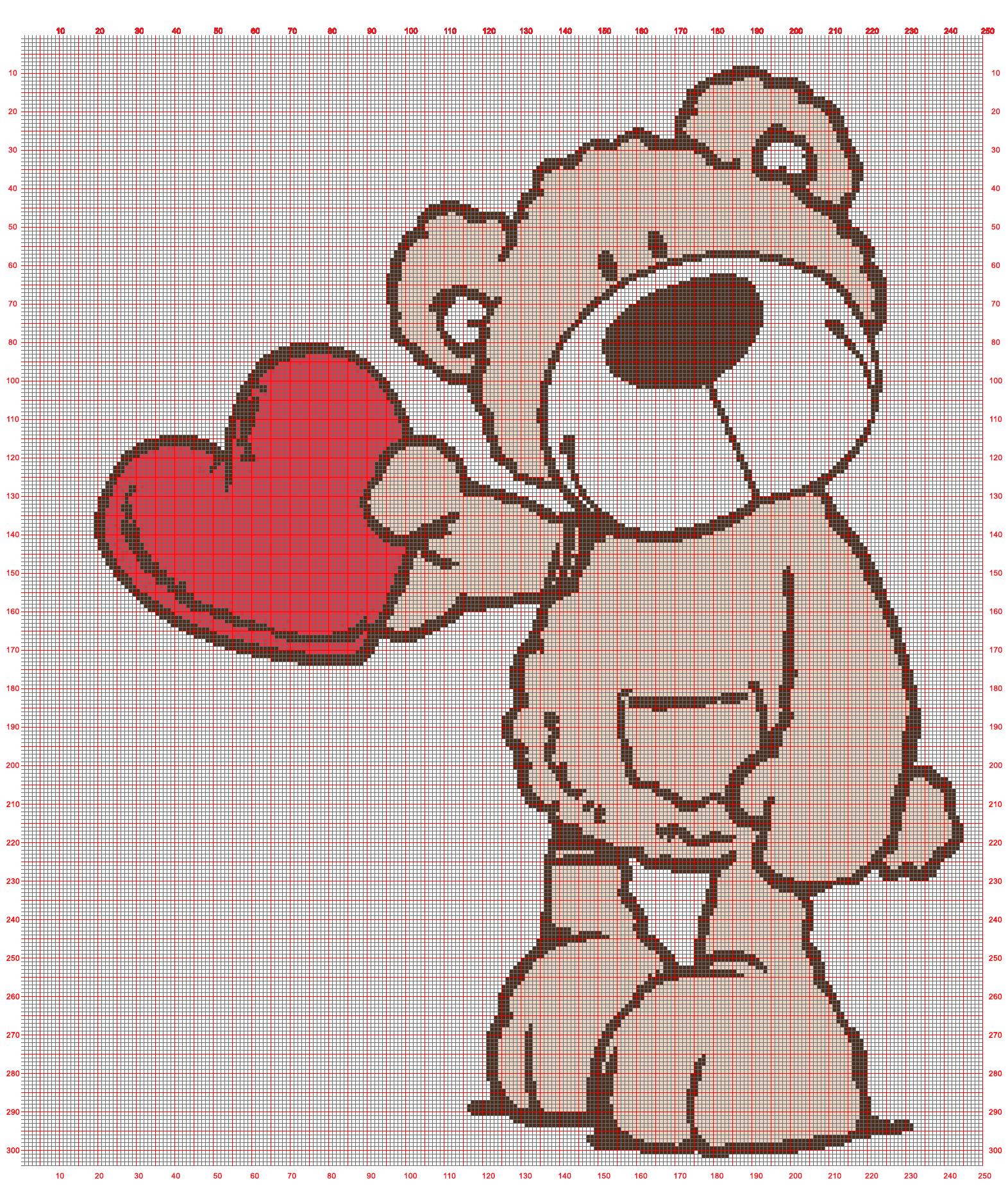 Teddy 250x304 Cross Stitch Patterns Cross Stitching Stitch Patterns
